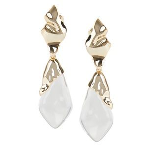 ALEXIS BITTAR • Crumpled Clear Lucite Earrings